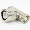 C T Adapter Female (Jack)-Male (Plug)-Female (Jack), Nickle Plated Brass Body, High Temp -- SM3693