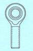 Aluminum Pro-Line Rod Ends -- ALPRO-8M-G