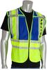 PIP 302-PSV Yellow/Blue 2XL/5XL Mesh/Solid High-Visibility Vest - 2 Pockets - 616314-07314 -- 616314-07314