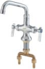 Lead Free Deck Mount Double Pantry Faucet with 6 IN Swivel Spout -- 0239824 - Image
