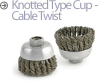 Mini-Grinder Cup and Wheel Brushes -- BUSC-3