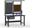 Workstation with Painted Steel Top -- LC1127 -Image