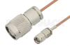 Reverse Polarity SMA Male to TNC Male Cable 24 Inch Length Using RG178 Coax -- PE35220-24 -Image