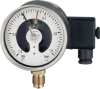 DRF34 - Brass Pressure Gauge w/ Switch