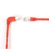 15FT Red CAT6 250MHz Angle Patch Cable S/FTP CM Down-Straight -- EVNSL213S-0015-90DS - Image