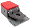 On-Off Foot Switch: single plastic pedal with red plastic half guard -- APS1151-V0