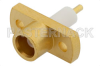 MCX Jack Connector Solder Attachment 2 Hole Flange Mount Pin Terminal, .328 inch Hole Spacing -- PE4894 -Image