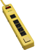 Protect It! 6-Outlet Industrial Safety Surge Protector, 6-ft. Cord, 900 Joules, Outlet Covers -- TLM626SA