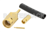 SSMA Male Connector Solder Attachment For RG178, RG196 -- PE4199