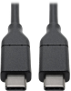 USB 2.0 Hi-Speed Cable with 5A Rating, USB-C to USB-C (M/M), 3 ft. -- U040-003-C-5A - Image
