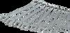 10 Pieces 12 Point Metric Mirror Chrome Wrench Set -- MC210 - Image