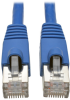 Cat6a 10G-Certified Snagless Shielded STP Network Patch Cable (RJ45 M/M), PoE, Blue, 20 ft. -- N262-020-BL