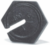 Couterpoise Cast Iron Test Weights -- Individual Slotted Fairbanks® Hexagon - Image