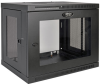 SmartRack 9U Low-Profile Switch-Depth Wall-Mount Rack Enclosure Cabinet with Clear Acrylic Window -- SRW9UG -- View Larger Image