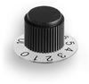 Gamma Series Clear Plastic Dial Control Knob -- G-11-TSK