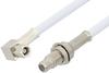 SMC Plug Right Angle to SMC Jack Bulkhead Cable 48 Inch Length Using RG188-DS Coax -- PE34484-48 -Image