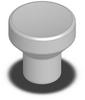 SS Mushroom Knob - Female Thread - M4 -- 06240-003