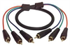 3 Line RGB Component RCA Cable Male / Male, 3.0 ft -- CVR3MM-3 - Image