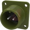 connector,box receptacle,class a,size 14s,2 #16 solder pin contact,olive drab -- 70009996 - Image