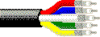 RGB Video, Mini Hi-Res, 25 AWG 4 Coax Solid TC, CMP -- 1394P -Image