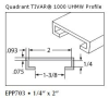 UHMW Natural C Channel -- EPP703 -- View Larger Image