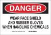 Brady Rectangle White Chemical, Biohazard, Hazardous & Flammable Material Sign - 84453 -- 754473-84453