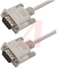 Cable;Premium Molded;Straight;DB9 Male/Male;5 Ft;9 Cond;Light Gray;Stranded -- 70126148 - Image
