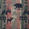 Bear and Moose on Patchwork Fabric -- R-Brentwood -- View Larger Image