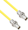 Halogen Free Cable Assembly TRB Non-Insulated Bulk Head 3-Lug Cable Jack to Jack .245