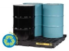 Justrite 28653 Accumulation Center, 1 Drum, Black -- B6168653