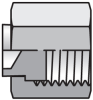 PNLO Plug Stainless Steel -- 20 PNLO-SS