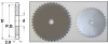 Hubless Roller Chain Sprockets (metric) -- A 6C 7MYC25011 - Image