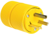 Pass & Seymour® -- Gator Grip Plug, Yellow - D0731 - Image