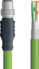 LAPP ETHERLINE® PROFINET® Single Ended Cordset - 4 positions female M12 bulkhead connector to Wire Leads - Green PVC - Stationary -2m -- OLFCPN011S02 -Image