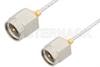 SMA Male to SMA Male Cable 6 Inch Length Using PE-SR047FL Coax, RoHS -- PE34186LF-6 -Image