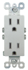 Pass & Seymour® -- TradeMaster Tamper-Resistant Receptacle, Titanium - 885TRTI