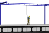 Tether Track™ Fall Arrest Free Standing Cantilevered Monorail