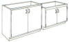 Standard Steel Laboratory Cabinet, Doors Only -- 200 Series