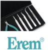 Erem Cable / Tubing Cutter Flush Steel Flush Cutting Plier 884EPCM - 4.5 in Length - ESD Safe Foam Cushion Grip -- 037103-25846