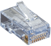 CAT6 EZ RJ45 Modular Plug Connector-Unshielded TAA 100-Pack -- C6EZUP-100PAK -- View Larger Image
