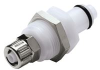 Coupling Insert, Panel Mount Ferruleless Polytube Fitting, Straight Thru -- PLC400M8 -Image
