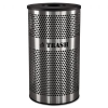 Stainless Steel Trash Receptacle; 33 gal; Stainless Steel -- VCT-33PERF-S
