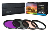 Polaroid PL4FIL72 4-Piece Filter kit - 72mm, UV, CPL, FLD, -- PL4FIL72