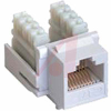 Jack, Keystone; White; For CAT 6 cable -- 70121208