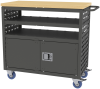 Cart, Louvered Cart w/Locking Doors -- MA3618CLD - Image