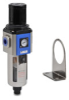Pneumatic / Compressed Air Filter-Regulator: 1/2 inch NPT female ports -- AFR-4433 - Image