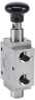 Pad Operated (Push Pull) / Pad Operated (Push Pull) Detented Spool Valves, 1600 Series -Image