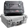 Pelican 1520 Case with Convertible Travel Bag - Silver   SPECIAL PRICE IN CART -- PEL-1520-007-180 -Image