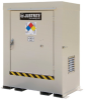 Justrite 495 gal Bone Hazardous Material Storage Cabinet - 78 in Width - 83 in Height - Floor Standing - 697841-15853 -- 697841-15853