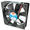 Case Fans/Blowers -- (12V) 120 x 120 x 25mm DC Fan - Image